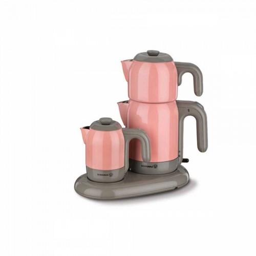 Korkmaz Mia Pembe/Gri Çay Kahve Makinesi