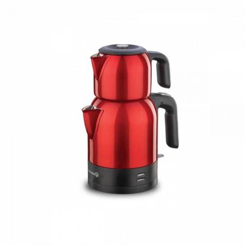 Korkmaz Demkolik Kırmızı/Siyah Elektrikli Çaydanlık
